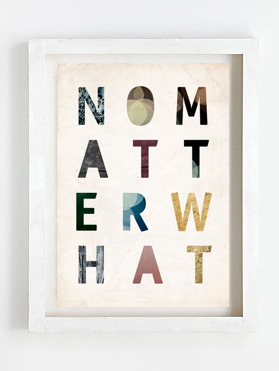 Print by Sophie Klerk, 'no matter what'