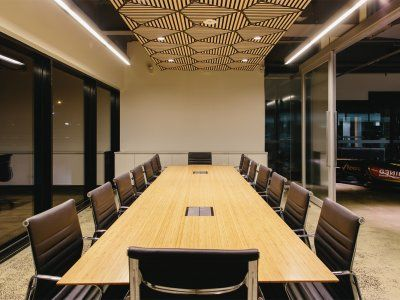 Concept Office Interiors designed and built Renault Australia's conference rooms with a modern industrial warehouse look.