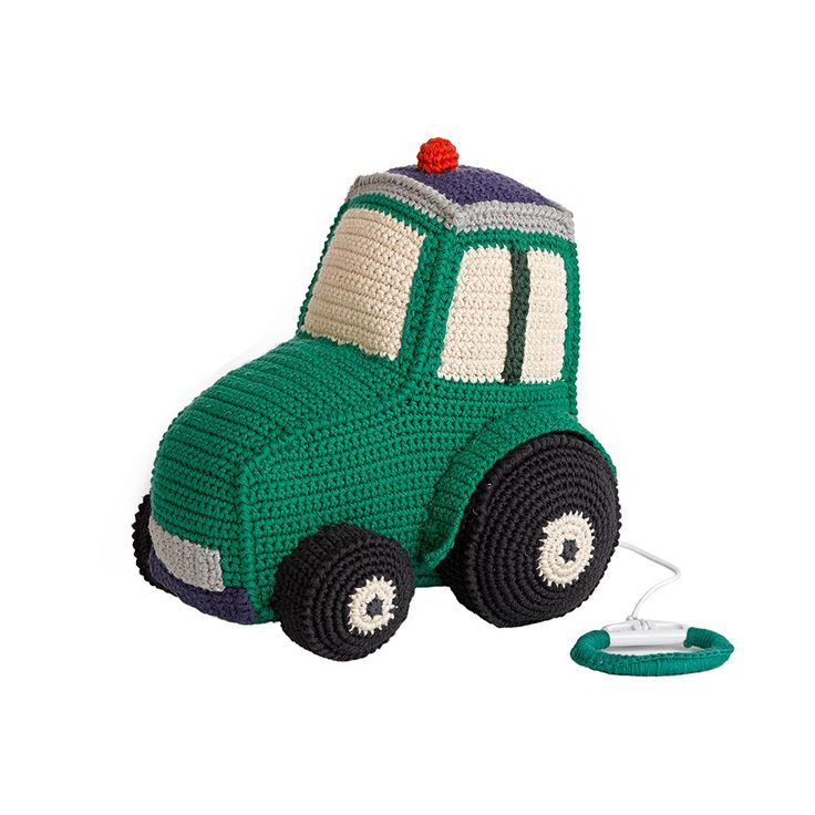 Discover the Anne-Claire Petit Crochet Tractor Music Box - Apple at Amara