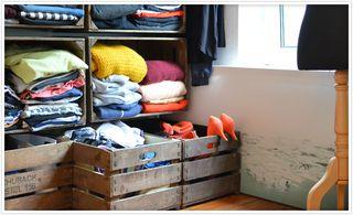 kleiderschrank aus obstkisten wooden crate shelves furniture diy