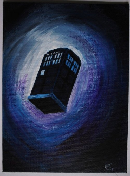 Love this. I would hang it above my bed, so in case the Doctor happened upon my bedroom, he would know I am waiting for him.