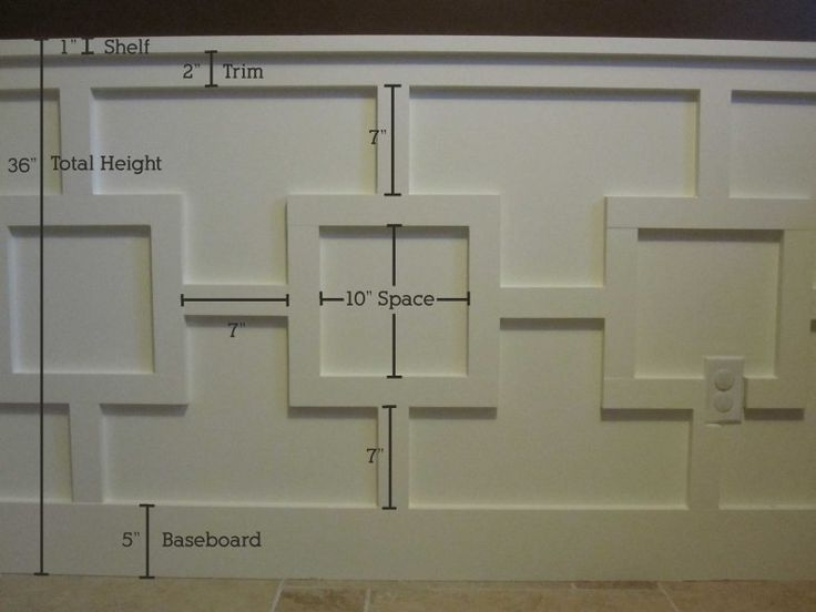 Office Wall Detail Trim Dimensions