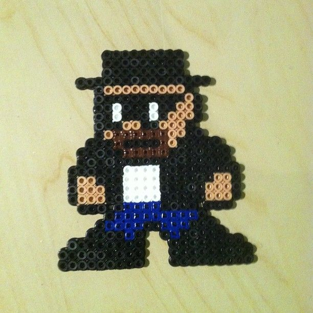 Breaking Bad Heisenberg Perler Bead Art by Matthew Green