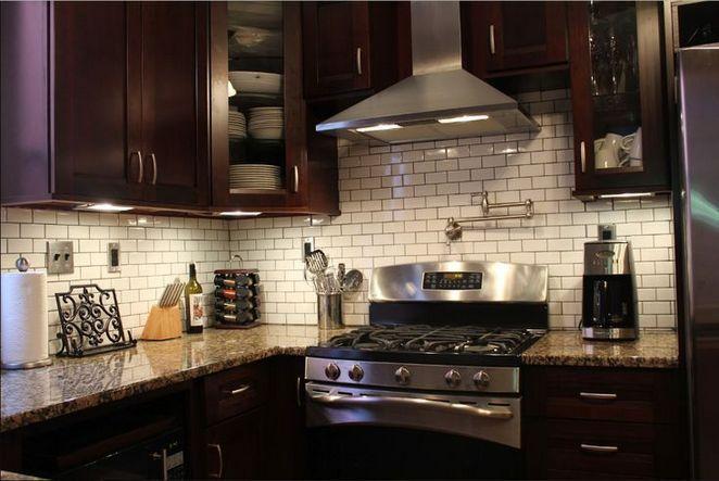41 What Kitchen Backsplash Ideas With Dark Cabinets Subway Tiles
