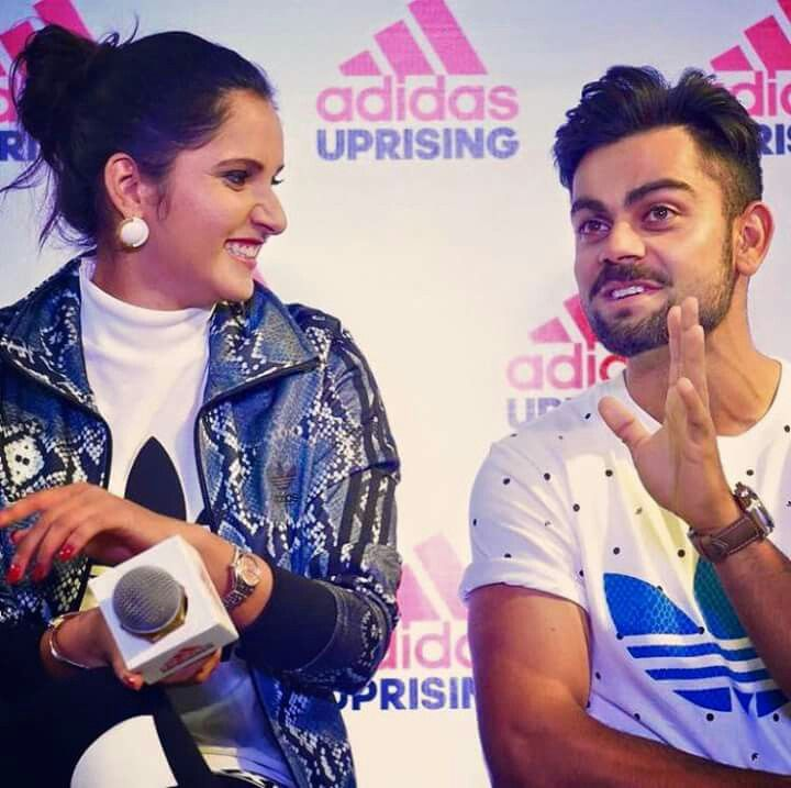 Virat kohli and sania mirza
