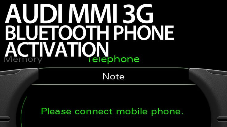 How to activate #bluetooth handsfree profile #Audi MMI 3G (A1 A4 A5 A6 A7 A8 Q3 Q5 Q7) #VCDS