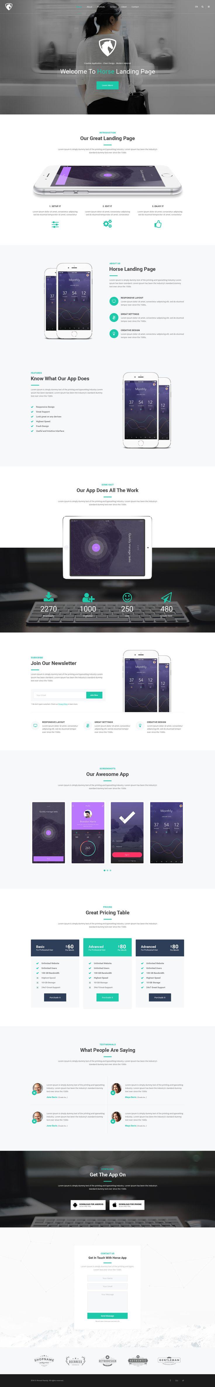 Horse App - PSD Template #psd #application #creative • Download ➝ https://themeforest.net/item/horse-app-psd-template/18729902?ref=pxcr