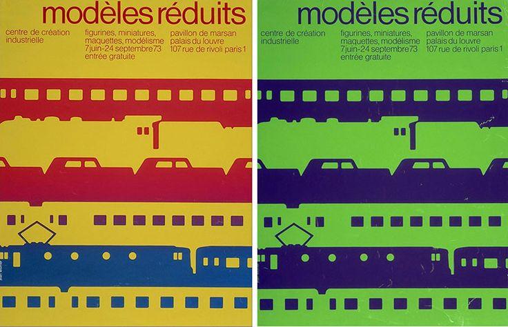 Jean Widmer - Affiches Centre de création industrielle, modèles reduits, 1973