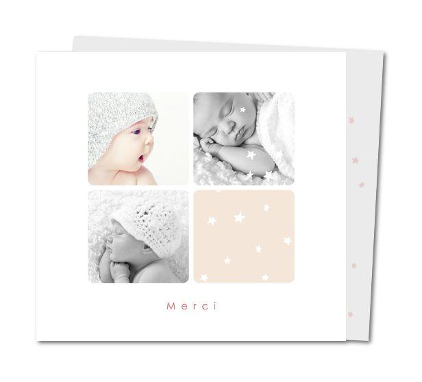 Remerciement naissance fille │ Planet-Cards.com