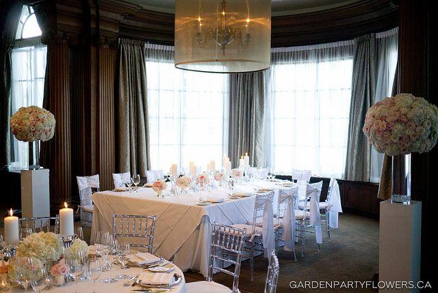 Head Table Vancouver Club Wedding