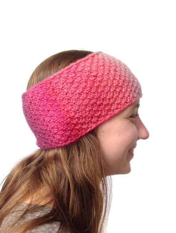 Ear Warmer Knitted Headband Hand Knit Ear Warmer Hipster by LizSox