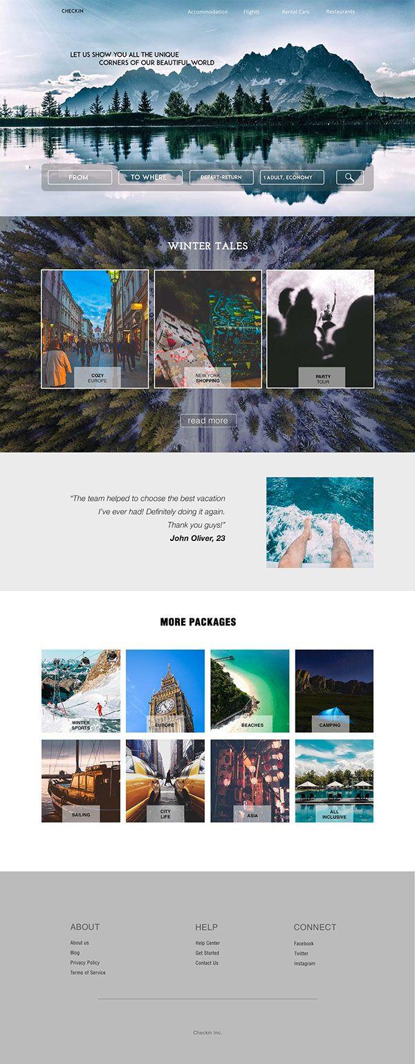 Travel agency webdesign on Behance