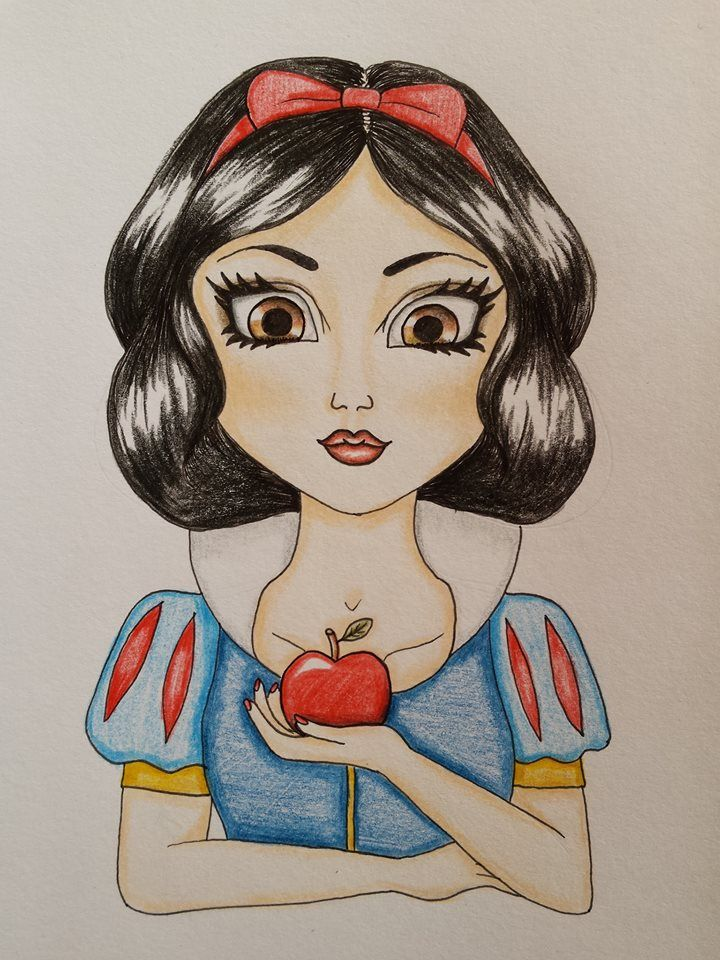 snow white drawing