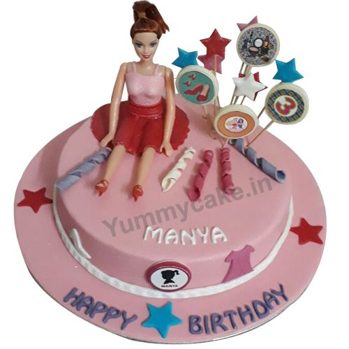 Order #BarbieDollCake for your loving daughter from #Yummycake Call 9718108300 for quick orders now.  BarbieCake