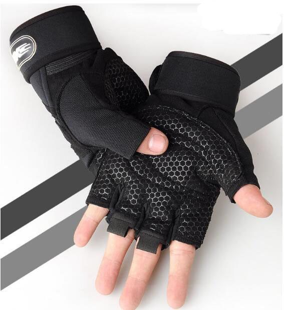 Weight lifting Gym Gloves Training Fitness Wrist Wrap Workout Exercise Sports LNN9019