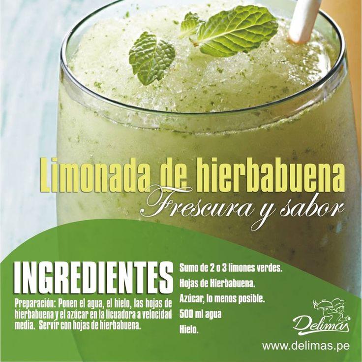 DONE. Limonada de Hierbabuena. Esta deliciosa de verdad!