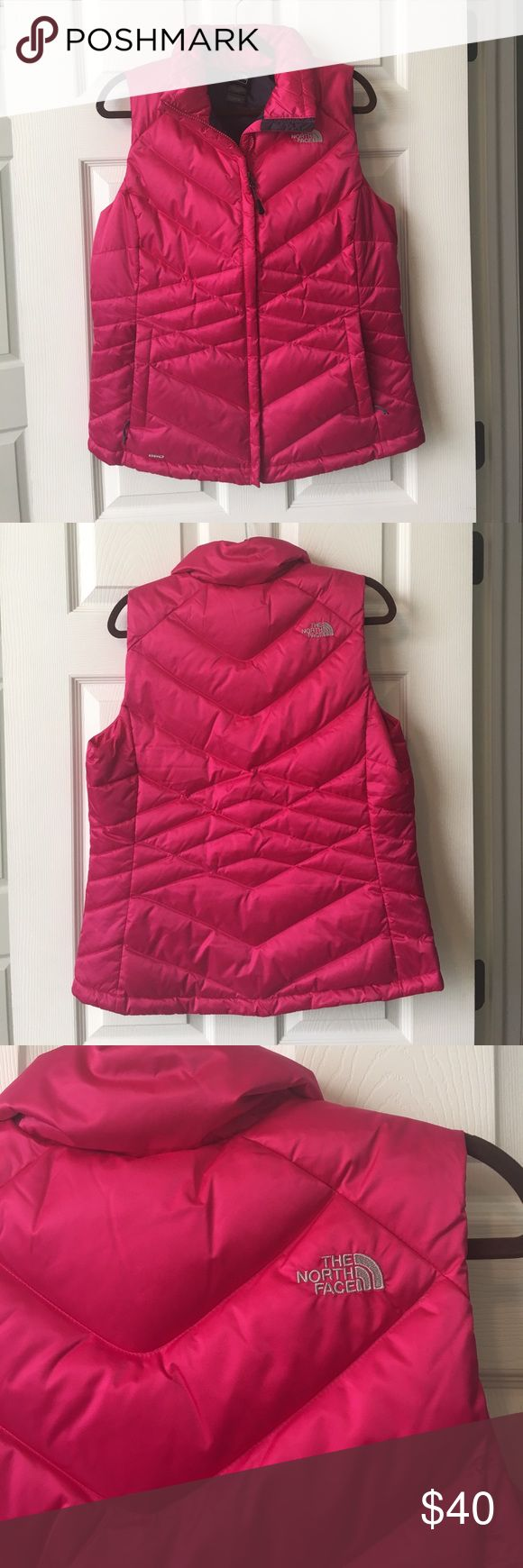 Vest from the North Face. Size L Beautiful deep pink vest from the North Face size Large. Worn once. Zipper works great and is very warm. Looks super cute with jeans and boots. Price is negotiable The North Face Jackets & Coats Vests