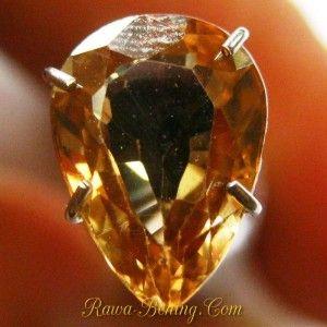 Batu Permata Natural Zircon Bentuk Tetes Air 2.42 Carat ~ www.Rawa-Bening.Com