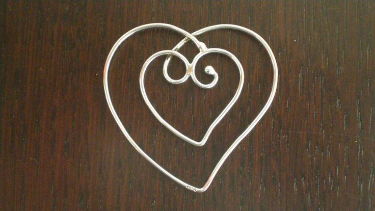 Handmade Silver Pendant / Bookmark by IoJewellery on Etsy