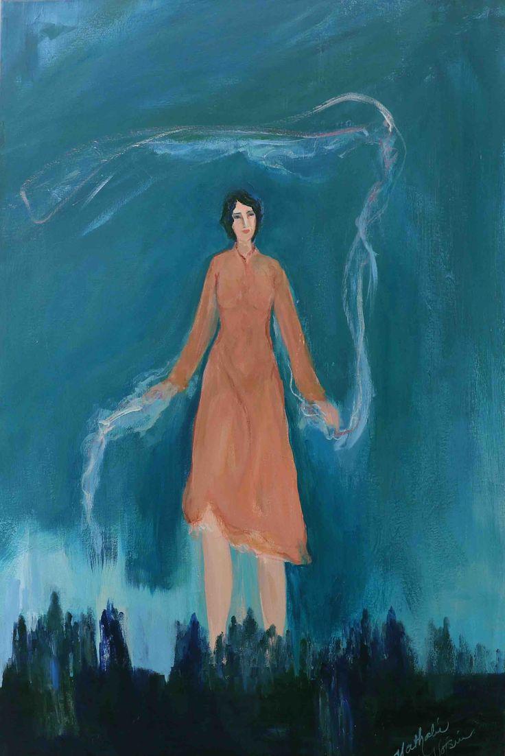 """Nathalie Voisine. Évolution. Acrylic on Canvas. 36x24""""."""