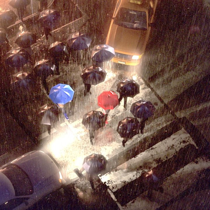 """Fascinating. See how Pixar blurred the line between reality and animation with """"The Blue Umbrella"""""""