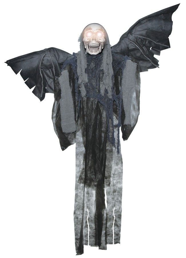buy costumes online like the hanging talking winged reaper halloween prop from australias leading costume shop