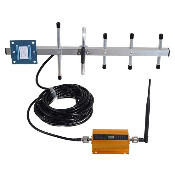 2G GSM 900mhz Gold 60dB Gain Cell Phone Signal Booster