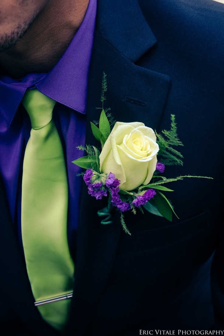 Purple, green, wedding, colors