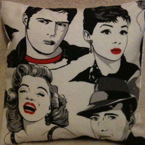 "16"" Retro Movie Stars Marilyn Monroe Audrey Hepburn James ..."