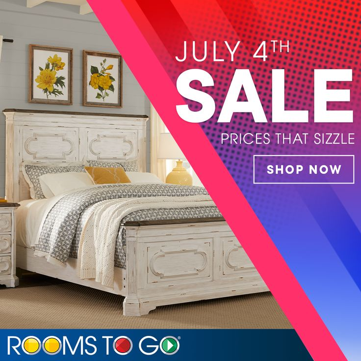 July 4th Furniture Sales: The Rooms To Go July 4th Sale Ends Today! Shop Now For