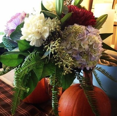 Fall Floral Centrepiece <3