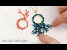 How to Add Beaded Coral Around a Form that has Circular Brick Stitch - YouTube