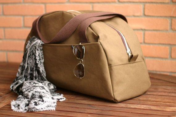 La main toile sac - weekender bag - sac de sport - sac de fin de semaine - voyageur sac en toile - fourre-tout en toile