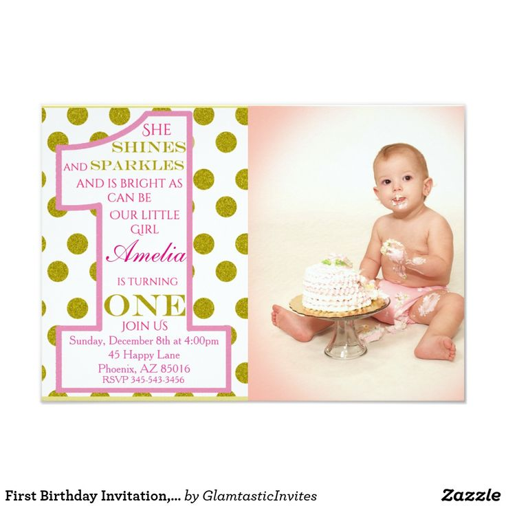 Best 25+ First birthday invitation cards ideas on Pinterest ...