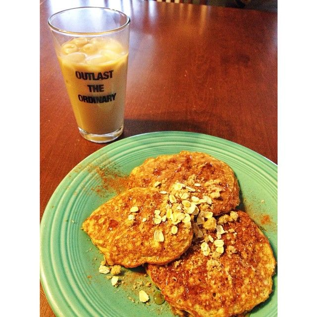 I perfected my #proteinpancakes today ☀️!! 2 #eggs, 1 #banana, 1T #Pb2, 1t baking powder, 1/4 cup #oats. Cooked them on griddle at 350. Sprinkled with #brownsugar, #cinnamon and syrup! (The not so #healthy part😝) hit the spot 😊😋🍴#healthyeats #nutrition #fuel #ironmantriathlete #ironmantri #trigirlz #outlasttheordinary #eatcleantrainmean 😎