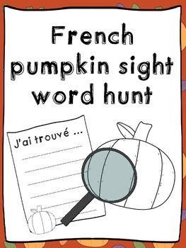 French pumpkin sight words hunt - Jeux - Mots à haute fréquence