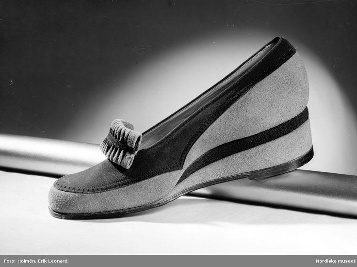 1941. Promenadskor med kilklack. Foto: Erik Holmén