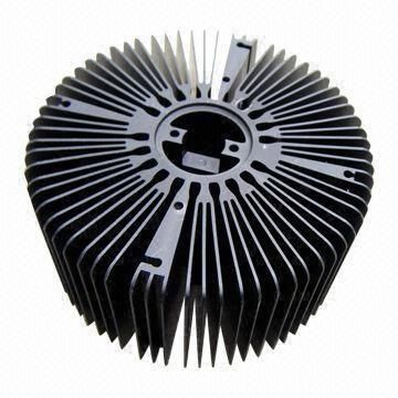 LED Heat-sink, Made of Aluminum AL6063-T5 Material, with Black Anodize, Lathe Parts