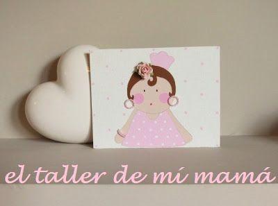 Cartel de La gitana en rosa, pintado a mano sobre lienzo 3D, con diferentes aplicaciones