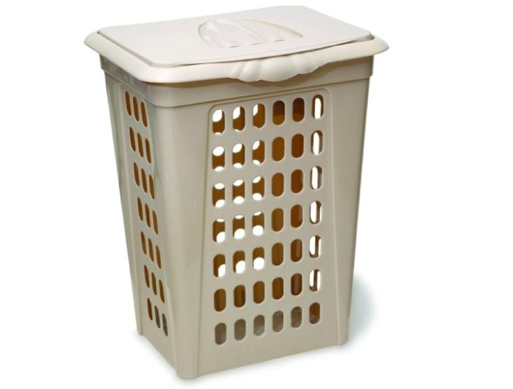 Best 25 laundry hamper with lid ideas on pinterest trash can ideas lowes trash cans and - Plastic hamper with lid ...
