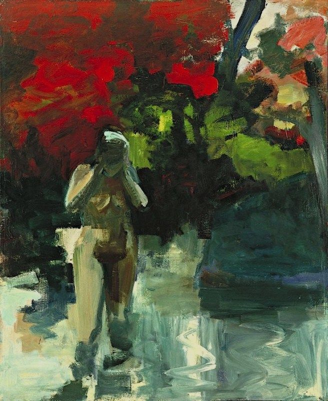 Elmer Bischoff (American, Bay Area Figurative Movement, 1916–1991): Girl Wading, 1959. | I Require Art