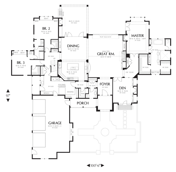 Mascord House Plan 2459 House Plans The Two And Tiny