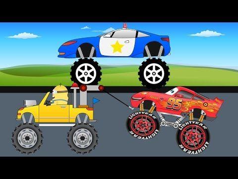 Police Truck Vs Red Racing Car - Kids Monster Truck - Video For Kids - YouTube