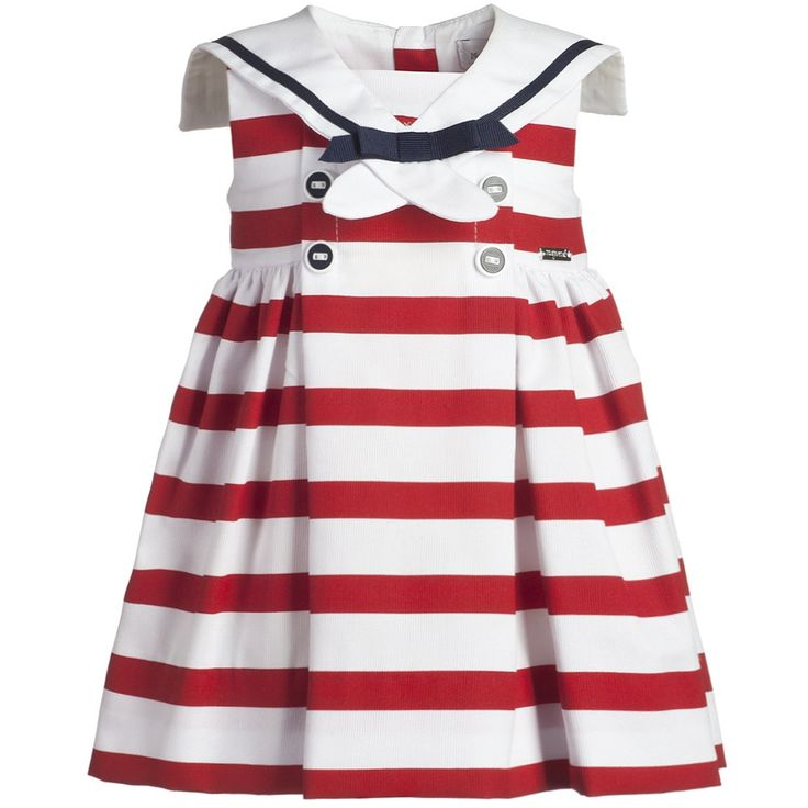 Baby Girls Red Stripe Sailor Dress - Girl   Childrensalon