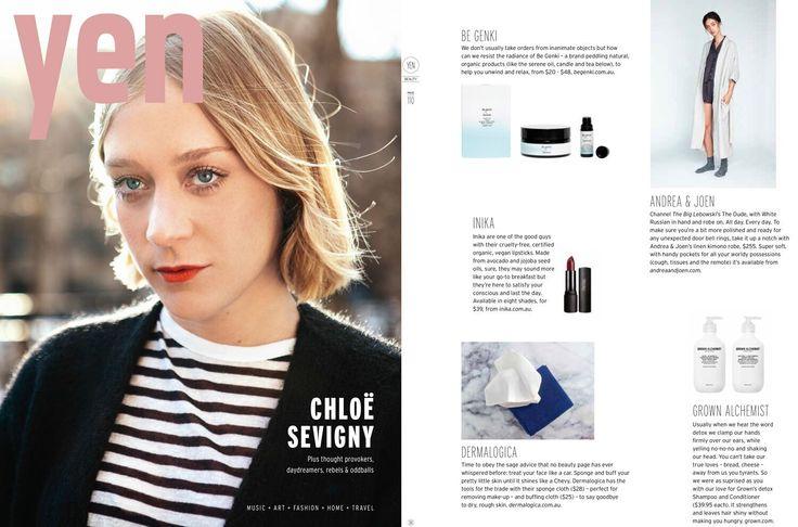 Andrea & Jen French Bed Linen in Yen Magazine