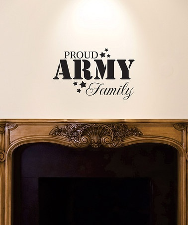 'Army Family' Wall Quote