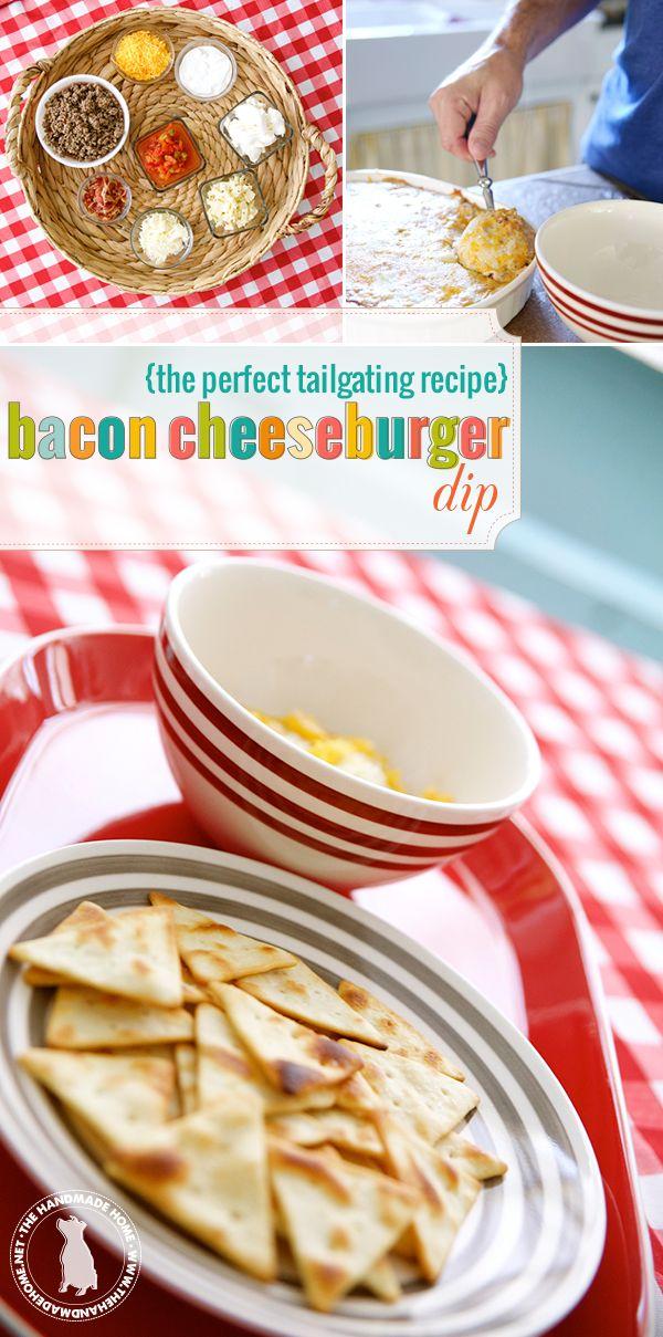 bacon cheeseburger dip - the handmade home