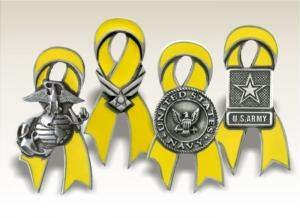 Yellow Ribbon Lapel Pins