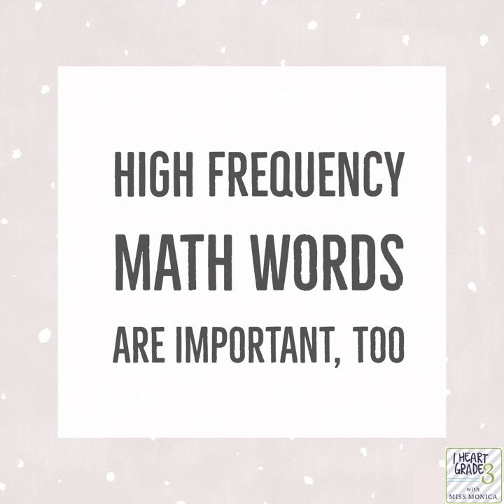 High Frequency Math Words