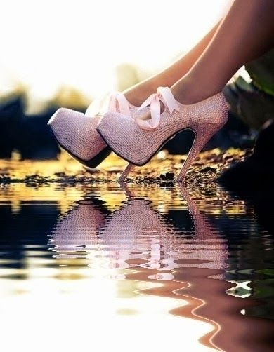 Pinkish high wedding heel fashion | Fashion World